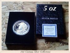 SBSS 5 oz 2014 FREEDOM GIRL Proof Coin Silver Shield COA