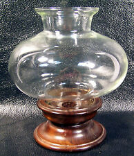 Fitter Ball Chimney Shade  Wood Base Candle Holder  - Cornwall Industries