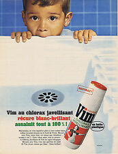 PUBLICITE ADVERTISING 094 1966 VIM au chlorate javelisant