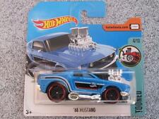 Hot Wheels 2017 #124/365 1968 ford MUSTANG blue Tooned New Casting