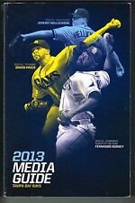 2013 Tampa Bay Rays MLB Baseball Media GUIDE
