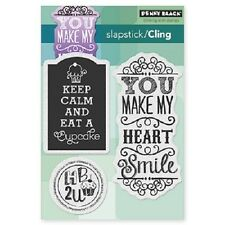 PENNY BLACK RUBBER STAMPS SLAPSTICK CLING CUPCAKE DAY STAMP SET 2014