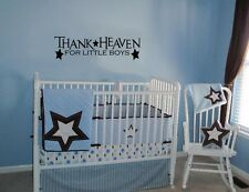 THANK HEAVEN FOR LITTLE BOYS WALL ART DECAL QUOTE WORDS LETTERING BABY NURSERY