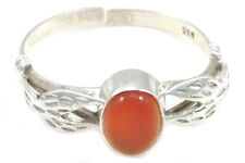 LIGHT RED ONYX RING JEWELRY SIZE 8 ADJUSTABLE GENUINE 925 STERLING SILVER ARTISA