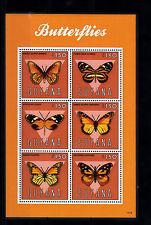 Guyana 2013 estampillada sin montar o nunca montada Mariposas I 6v m/s Insectos Naturaleza Danaus sellos