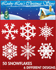 SNOWFLAKE CHRISTMAS WINDOW STICKERS - EASY TO USE CLINGS SNOWFLAKES