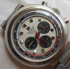 Tissot T12 Chronograph mens wristwatch load manual steel case & bracelet