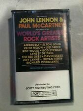 JOHN LENNON & PAUL McCARTNEY WORLDS GREATEST ROCK ARTISTS AMBROSHIA ECT CASSETTE