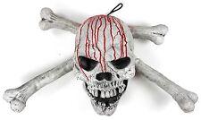 jumbo bloody skull and crossbone halloween door decoration