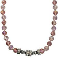 NEW KIRKS FOLLY GODDESS CRYSTAL MAGNETIC ENHANCER NECKLACE  ST/ PEACHY PINK