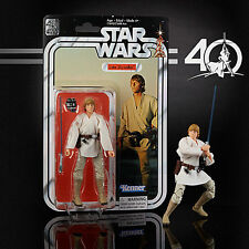"LUKE SKYWALKER ( 6 "" ) STAR WARS 40TH ANNIVERSARY ( BLACK SERIES ) ACTION FIGURE"