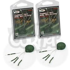2 Carp Fishing Rig End Tackle Small Tungsten Hooklink Sinkers Weights Weed Green