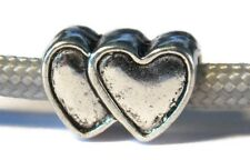 Double Heart Bead with 4.5mm hole for 550 Paracord - European Charm Bracelets
