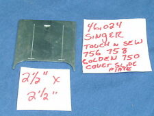 """SINGER GOLDEN 750 756 758 TOUCH SEWING MACHINE COVER SLIDE PLATE 2-1/2"""" X 2-1/2"""""""