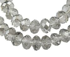 20 x 10mm Grey Crystal Faceted Abacus Glass Beads-GB25