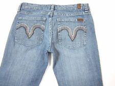 7 FOR ALL MANKIND Jeans **KATE** Straight Crystals Low Rise SIZE 28 x 33