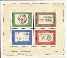 Hungary 1972 Stamp Day/Postmarks/Post/Mail/Postal History 4v m/s (n45679)