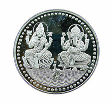 50 Grams Pure 999 Hallmarked Ganesh Lakshmi Ji Silver Coin for Investment/Gift