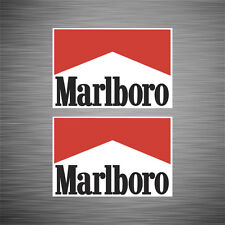 SKU1044 Two (2) x Marlboro Classic Saloon Car Rally Stickers 67x100mm