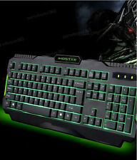 Green LED Backlit Backlight Luminous USB Wired Computer PC Gaming Keyboard