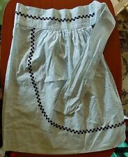 Vintage Apron Light Blue With Black Polka Dots & RickRac Cooking Baking Kitchen