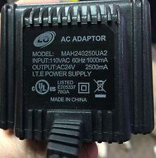 24 Volt AC Power Supply Wall Plug Transformer 60 Watts  24v 2500ma mah240250ua2