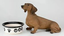 Lifesize Red Dachshund Figurine