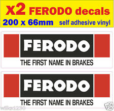 x2 Ferodo brake rally race car classic decals van mini bus truck sticker bicke