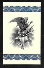 Engraving - Beautiful Eagle Intaglio Print by Mike Bean, Retired BEP printer.