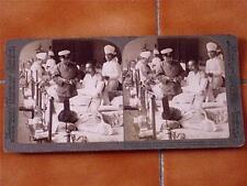 JAPANESE STEREOVIEW CARD by Underwood - MAIMED SOLDIERS AT KOJIMACHI HOSPITAL!