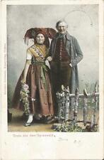 Gruss aus dem Spreewald, Trachten, alte Ak von 1905, Sorben-Lübben-Lübbenau-Burg