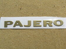 ~ MITSUBISHI PAJERO GOLD LETTER BADGE Emblem *Brand NEW* Fender Guard