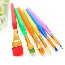 6Pcs Cake Decoration Paint Brush Painting Dusting Sugarcraft Cupcake Baking Tool