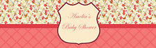 """100 Butterfly Shower Water Bottle Labels 8""""x2"""" Baby Bridal Shower Party Event"""