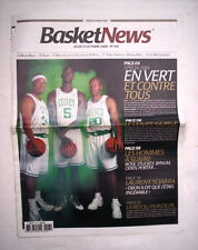 BASKETNEWS N°418 23 OCTOBRE 2008 NBA BOSTON CELTICS PIERCE GARNETT ALLEN