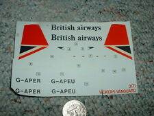 Airfix decals 1/144 Vickers Vanguard British Airways    G26