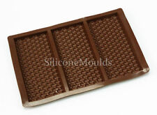3 cell Bubble Wrap Texture Chocolate Bar Mould Professional Chocolatier Silicone