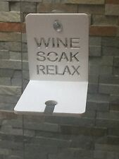 White bathroom/bath Wine Glass Holder....great Gift/mothers Day Gift