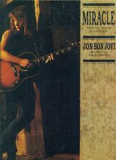 """JON BON JOVI """"MIRACLE"""" PIANO/VOCAL/GUITAR SHEET MUSIC 1990 RARE OUT OF PRINT!!"""