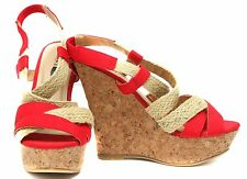 New Charles By Charles David Sophie  Womens cork Wedge Sandals Shoes sz  7