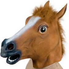 Cosplay Halloween Horse Head Mask Animal Zoo Party Costume Prop Toys Novel New B