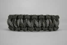 550 Paracord Survival Bracelet Cobra Gray/Touch of Gray Camping Tactical