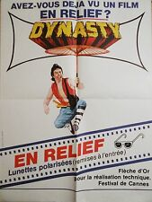 DYNASTY  ! model rare affiche cinema karate kung-fu 1976