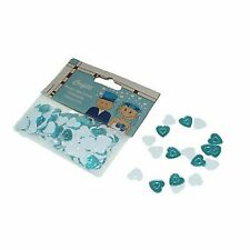 Aqua Turquoise Blue & White Heart Mix Table Scatter Confetti