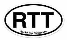 "RTT Rocky Top Tennessee Oval car window bumper sticker decal 5"" x 3"""