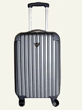 "20 "" silver Upright hard case lauggage Spinner carry on  4 wheels / bag / case"