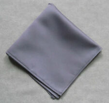 HANDKERCHIEF HANKIE FORMAL WEDDING DINNER SILKY PALE LAVENDER PURPLE POCKET