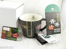 Hong Kong Mug Starbucks 15th Anniversary Cup New Hk Coffee 2015 Neon 12 Oz card