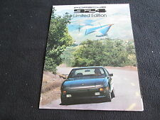 1978 Porsche 924 Special Ed Brochure, LIMITED EDITION 924 US Foldt Sales Catalog