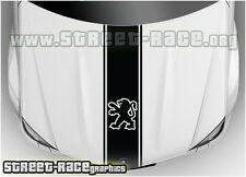 Bs1302 Peugeot Sombrero Racing Stripes gráficos Calcomanías Stickers 106, 206, 306